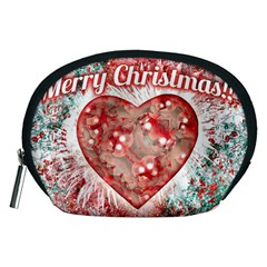 Vintage Colorful Merry Christmas Design Accessory Pouch (Medium)