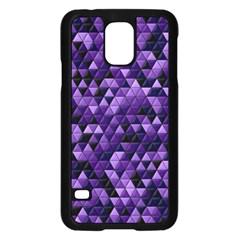 Purple Tiles Samsung Galaxy S5 Case (Black)