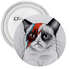 Grumpy Bowie 3  Button
