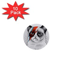 Grumpy Bowie 1  Mini Button (10 Pack)