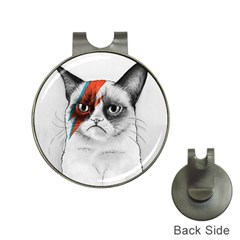 Grumpy Bowie Hat Clip With Golf Ball Marker