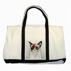 Grumpy Bowie Two Toned Tote Bag