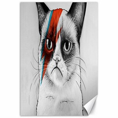Grumpy Bowie Canvas 12  x 18  (Unframed)