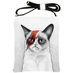 Grumpy Bowie Shoulder Sling Bag