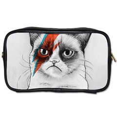 Grumpy Bowie Travel Toiletry Bag (two Sides)