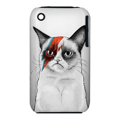 Grumpy Bowie Apple iPhone 3G/3GS Hardshell Case (PC+Silicone)