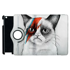 Grumpy Bowie Apple Ipad 3/4 Flip 360 Case