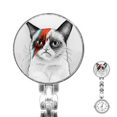 Grumpy Bowie Stainless Steel Nurses Watch