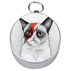 Grumpy Bowie Silver Compass