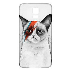 Grumpy Bowie Samsung Galaxy S5 Back Case (white)