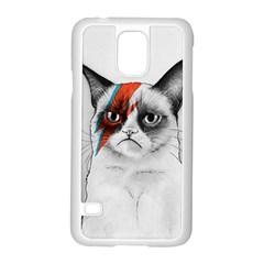 Grumpy Bowie Samsung Galaxy S5 Case (White)
