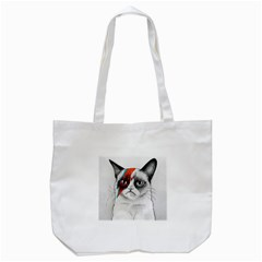 Grumpy Bowie Tote Bag (White)