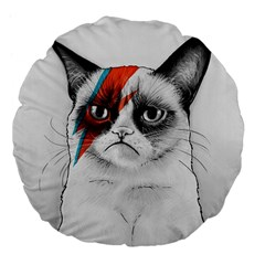 Grumpy Bowie Large Flano Round Cushion