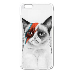 Grumpy Bowie Apple iPhone 6 Plus Enamel White Case
