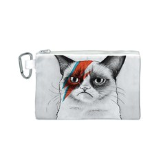 Grumpy Bowie Canvas Cosmetic Bag (Small)