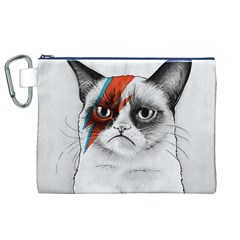 Grumpy Bowie Canvas Cosmetic Bag (XL)
