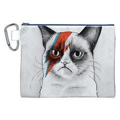 Grumpy Bowie Canvas Cosmetic Bag (xxl)