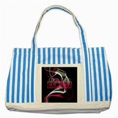 Classy Chics Vape Pink Smoke  Blue Striped Tote Bag