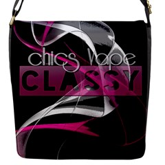 Classy Chics Vape Pink Smoke  Flap Closure Messenger Bag (small)