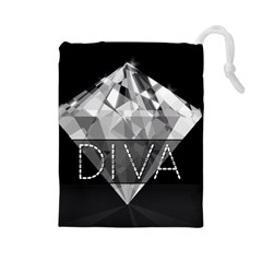 Diva Diamond  Drawstring Pouch (large)