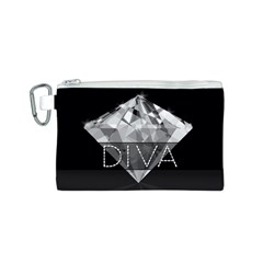 Diva Diamond  Canvas Cosmetic Bag (Small)