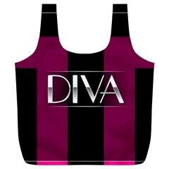 Pink Diva  Reusable Bag (XL)