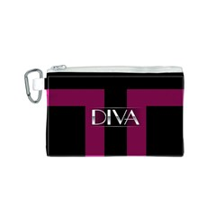 Pink Diva  Canvas Cosmetic Bag (Small)