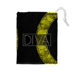 Diva Bling  Drawstring Pouch (Large)