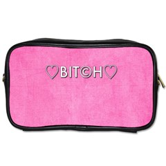 Hearts Bit?h Travel Toiletry Bag (two Sides)
