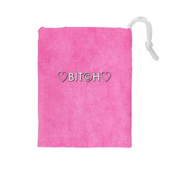Hearts Bit?h Drawstring Pouch (Large)