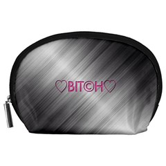 Shiny Metal Hearts Bit?h Accessory Pouch (Large)