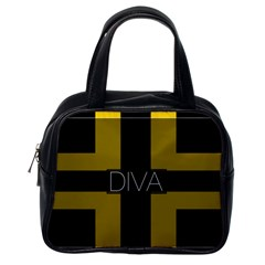 Diva Yellow Black  Classic Handbag (one Side)