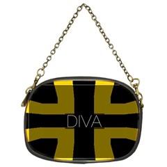 Diva Yellow Black  Chain Purse (one Side)