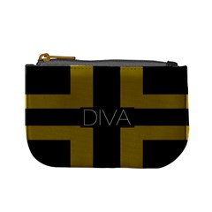 Diva Yellow Black  Coin Change Purse
