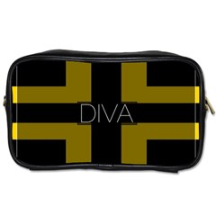 Diva Yellow Black  Travel Toiletry Bag (two Sides)
