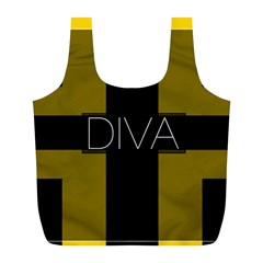 Diva Yellow Black  Reusable Bag (l)