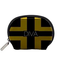 Diva Yellow Black  Accessory Pouch (Small)