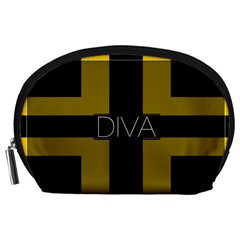 Diva Yellow Black  Accessory Pouch (Large)