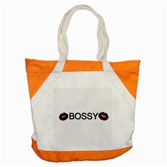 Bossy Lips  Accent Tote Bag