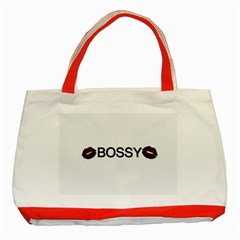 Bossy Lips  Classic Tote Bag (red)