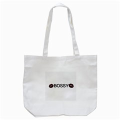 Bossy Lips  Tote Bag (white)