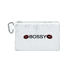 Bossy Lips  Canvas Cosmetic Bag (Small)
