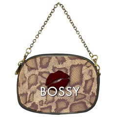 Bossy Snake Texture  Chain Purse (two Sided)