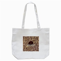 Bossy Snake Texture  Tote Bag (White)