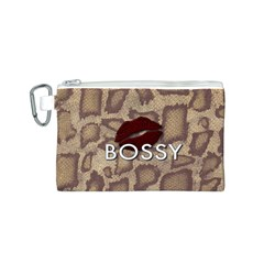 Bossy Snake Texture  Canvas Cosmetic Bag (small)