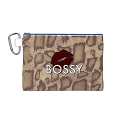 Bossy Snake Texture  Canvas Cosmetic Bag (Medium)