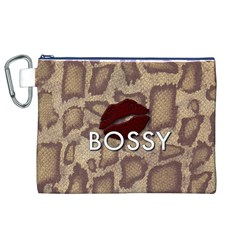 Bossy Snake Texture  Canvas Cosmetic Bag (XL)