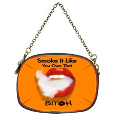 Vape Mouth Smoke Own That Chain Purse (one Side)