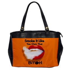Vape Mouth Smoke Own That Oversize Office Handbag (one Side)