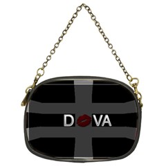 Diva Lips Bold Chain Purse (two Sided)